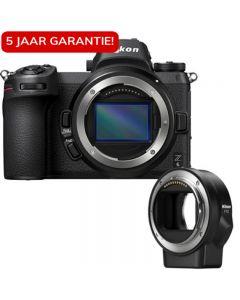 Nikon Z6 systeemcamera Body + FTZ adapter